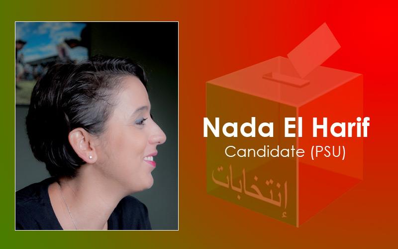 Femmes et candidates : Nada El Harif (PSU)