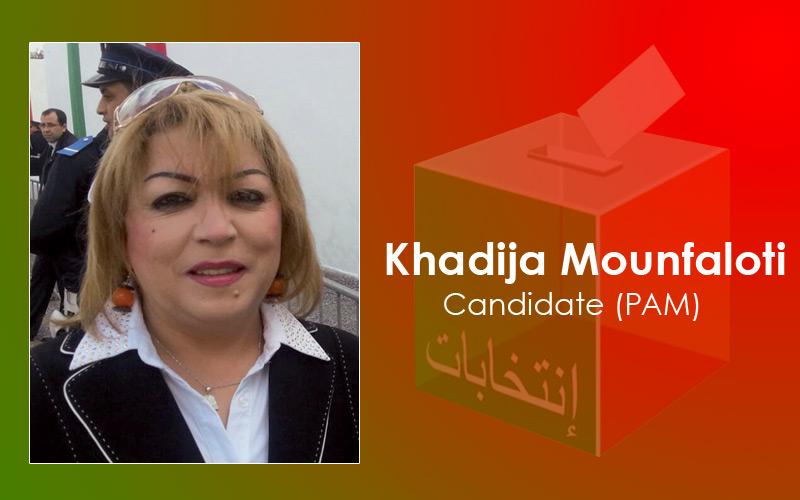 Femmes et candidates : Khadija Mounfaloti (PAM)