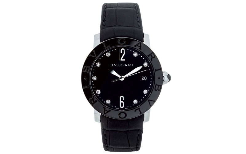 Montre Bulgari Bulgari Black Ceramic en acier serti de diamants, BULGARI.