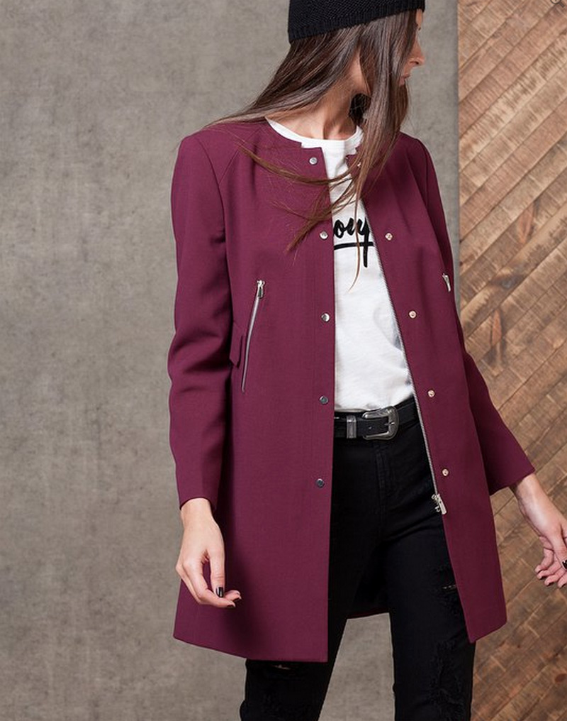 Manteau noir femme stradivarius
