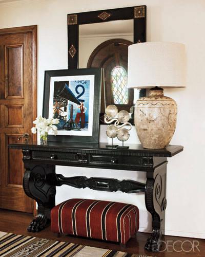 Diaporama une d co marocaine dans la maison de ellen for Decoration maison kardashian