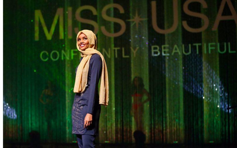 Une candidate en hijad et burkini détonne — Miss Minnoseta USA