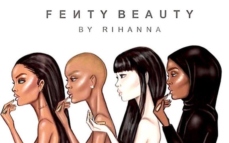 Rihanna donne un aperçu de sa gamme de make-up