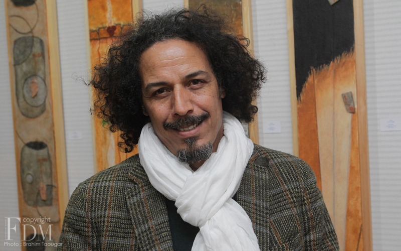 Mustapha Ghazlani expose sa «Terre en vertical» à la F.O.L de Casablanca