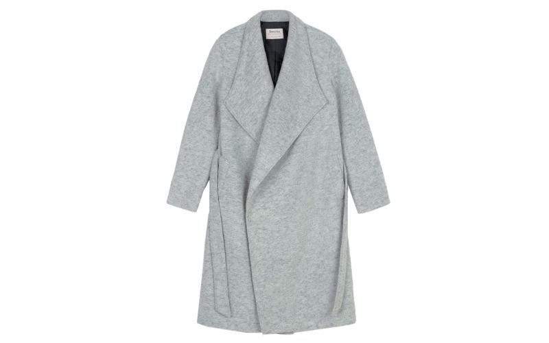 Manteau en laine, BERSHKA.