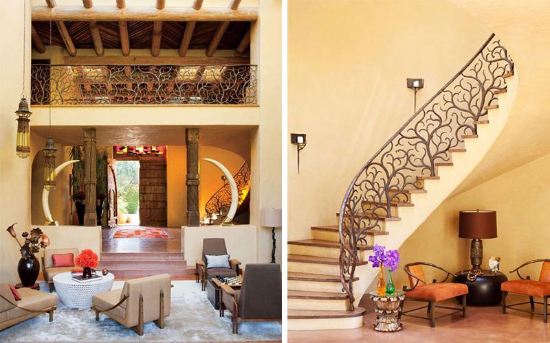 diaporama une d co tr s marocaine dans la maison de. Black Bedroom Furniture Sets. Home Design Ideas