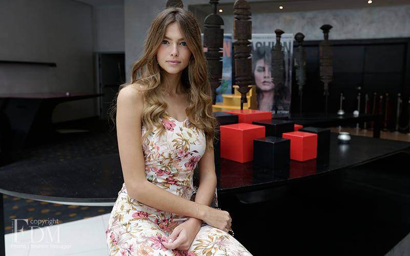 julia courtes  le visage d u2019ange du casa fashion show